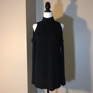 Kenzie XS black turtleneck with cold shoulders